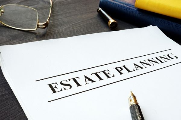 "Paper that says ""estate Planning"""